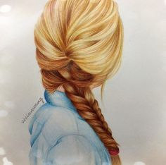 Braided hair drawing