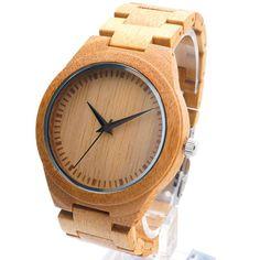BOBO BIRD D19 High Quality Men Wood Wristwatch Classic Folding Clasp Quarzt Movement Wrist Watch with Bamboo Strap