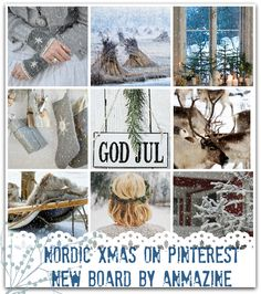 """NEW  BOARD """" NORDIC XMAS"""" ON PINTEREST BY ANMA ZINE"""