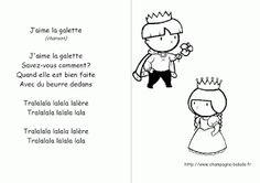 chanson illustre PS MS GS roi reine galette couronne