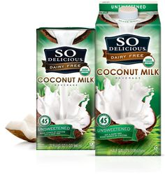 So Delicious unsweetened coconut milk. They carry it a Publix and Whole Foods. Great for smoothies.