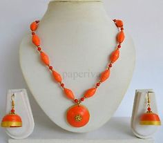 Classic Paper Quilling Necklace Jewellery