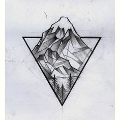 ⏫ #draw #dibujo #tattoodesign #sketch #sketchtattoo #Lanin #mountain #Mountaintattoo #santiagoelefante