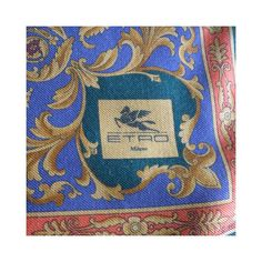 etro vintage scarf, écharpe en laine et soie vintage ETRO