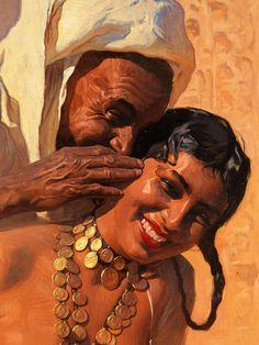 Risultati immagini per Adam Styka L'art Du Portrait, Arabian Art, Ancient Egyptian Art, Islamic Art, African Art, Traditional Art, Female Art, Art Pictures, New Art
