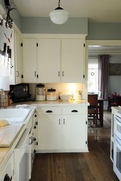 Love the contrasts. Through the Kitchen - eclectic - kitchen - portland - Julie Smith