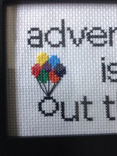 Disney Up Adventure is Out There Cross Stitch Pattern