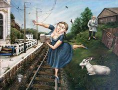 """Reading """"Anna Karenina"""" / Leyendo """"Ana Karenina"""" (ilustración de Angelica Gerih)"""
