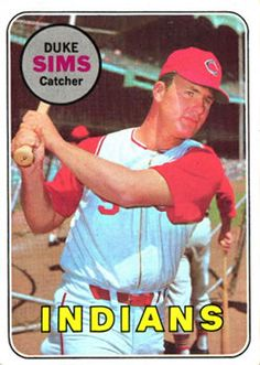1969 Topps #414 Duke Sims Front