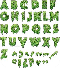 Vector clip art illustration with simple gra ,Slime letters. Vector clip art illustration with simple gra , Graffiti Lettering Fonts, Tattoo Lettering Fonts, Graffiti Alphabet, Lettering Styles, Hand Lettering, Typography, Cool Graffiti Fonts, Grafitti Letters, Dripping Letters