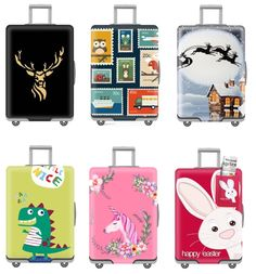Luggage Cover African Map Funny Pull Apart South Africa Protective Travel Trunk Case Elastic Luggage Suitcase Protector Cover