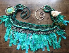 In response to many requests, I will be starting a series of tutorial posts for . - In response to many requests, I will be starting a series of tutorial posts for the freeform pixie - Crochet Belt, Knit Crochet, Crochet Shawl, Pixie, Fairy Clothes, Tribal Belly Dance, Skirt Tutorial, Tribal Fusion, Boot Bracelet