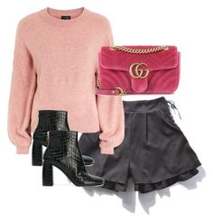 """""""Untitled #4762"""" by theeuropeancloset ❤ liked on Polyvore featuring Topshop, Gucci and STELLA McCARTNEY"""