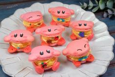 Japanese Cookies, Japanese Snacks, Kirby Pokemon, Real Food Recipes, Yummy Food, Cupcake Cakes, Cupcakes, French Macaron, Kawaii Dessert