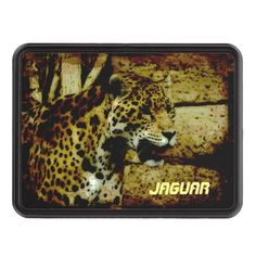 Jaguar Big Cat Artwork Trailer Hitch Cover