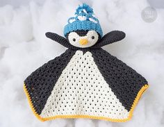 Instant download. This listing is only a PDF PATTERN, not a finished product. Po the Penguin Lovey is a plush toy and security blanket all in one! He will become a good friend for your baby. The pattern is very easy to follow: it contains detailed text instructions and 70 photos on 14