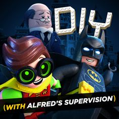 Make your own stuff with my awesome LEGO® Batman-themed cutouts and crafts! Alfred helps with the DIY parts by watching over and providing at least some kind of adult supervision. | The LEGO® Batman Movie | In theaters now