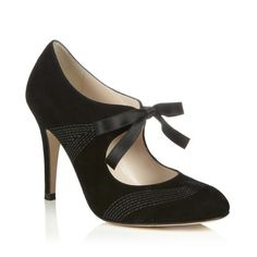 Recent shoe purchase splurge.  I can't walk in high heels, but the bow gives me some extra support.