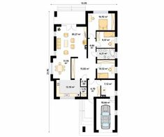 Aster 2 projekt domu - Jesteśmy AUTOREM - DOMY w Stylu Bungalow, Aster, Tiny House, House Plans, Villa, Floor Plans, Flooring, How To Plan, Moda Masculina