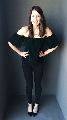 DIY Off the shoulder top inspired by Topshop cropped blouse, much cheaper and a little longer