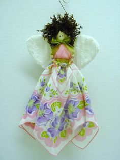 handkerchief angel ornaments | PATTERN Nana Handkerchief by Kimberleycrafts, $8.00
