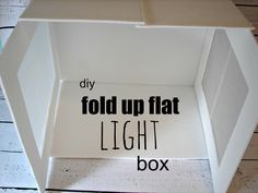 light box…diy...for all my clients that need a DIY image solution. This is a great idea, if your product is small.