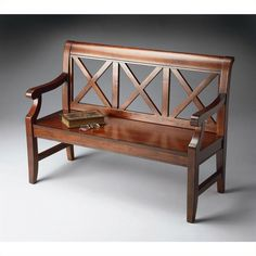 Plantation Cherry Bench - Butler Specialty 5048024 Selected solid woods, wood products and choice cherry veneers. Accent Furniture, Wood Furniture, Outdoor Furniture, Outdoor Decor, Living Room Bench, Dining Bench, Sofa Bench, Hallway Bench, Wooden Sofa