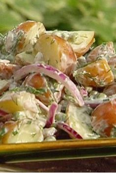 Recipe for Country Potato Salad - Looking for a tasty, low calorie potato salad recipe to take to a Memorial Day BBQ this year? Try this healthier …