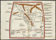 Ptolemy, Undecima Asie tabula continet India ext. Gange & Sinas, published by Lienhart Hol, 1482, via http://maps.bpl.org/highlights/earliest-printed-maps#