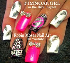 Nail Art Tutorial | DIY Splatter Paint & Feather Nails | #imnoangel Nail...