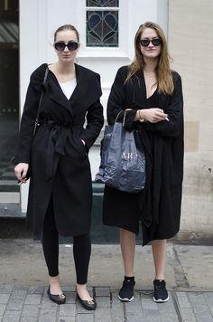 Amanda and Frida street style fashion Oxford Street, London