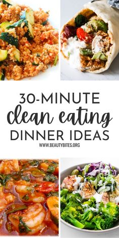 Some of my favorite healthy dinner recipes that are super easy, delicious and quick! Perfect weeknight meals, but tasty enough to make when you have more time as well. This roundup features easy dinner ideas with chicken, fish and seafood, one ground beef recipe as well as vegetarian and vegan dinner ideas. Healthy Dinner Recipes For Weight Loss, Healthy Family Dinners, Quick Healthy Meals, Quick Dinner Recipes, Good Healthy Recipes, Healthy Meals For Families, Good Meals, Easy Dinner Meals Healthy, Healthy Vegetarian Dinner Recipes