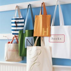 Tote bags always live up to their name, whether they're taking towels to the beach, fruit from the farmers' market, or gardening supplies to and from the shed.