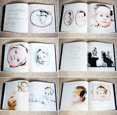 DIY modern baby book ideas. I decided to do Scarletts baby book on snapfish…