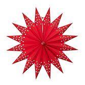 Watt & Veke Hanging Paper Star, Red, Large