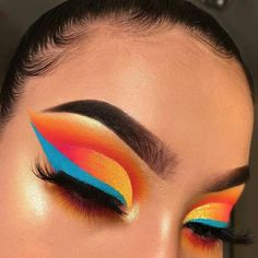 Gorgeous Makeup: Tips and Tricks With Eye Makeup and Eyeshadow – Makeup Design Ideas Makeup Eye Looks, Eye Makeup Art, Colorful Eye Makeup, Smokey Eye Makeup, Glam Makeup, Makeup Inspo, Eyeshadow Makeup, Yellow Eyeshadow, Makeup Ideas