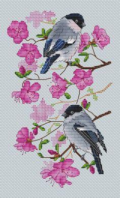 Cross Stitch Bird, Cross Stitch Animals, Cross Stitching, Animal 2, Farm Animals, Needlework, Birds, Log Projects, Embroidery