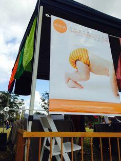 The Australian Nappy Association at the #GreenHeartFair 2014 #clothnappies #getintocloth