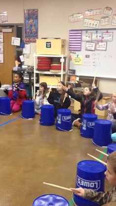 "This is ""Christmas Bucket Drumming"" by Kristen Eriksen on Vimeo, the home for high quality videos and the people who love them. Preschool Music, Music Activities, Teaching Music, Bucket Drumming, Middle School Music, Music Lesson Plans, Drum Lessons, Music And Movement, Music For Kids"