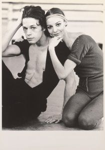 Anthony Dowell & Antoinette Sibley, stars of the Royal Ballet in the 60s & 70s; photo by Kenn Duncan