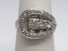VINTAGE ANTIQUE 1.00CT EUROPEAN & SINGLE CUT DIAMOND LADIES RING