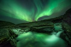 Alpine Aurora by Arild Heitmann, via 500px