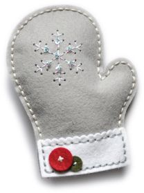 Memory Box - Craft Die - Plush Frosty Mitten now available at The Rubber Buggy Felt Christmas Decorations, Christmas Ornaments To Make, Felt Ornaments, Christmas Projects, Felt Crafts, Christmas Diy, Christmas Crafts, Cork Crafts, Cardboard Crafts