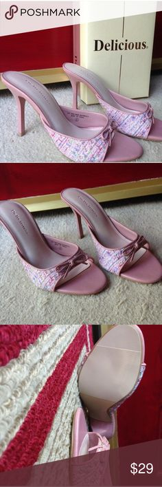 """DELICIOUS open toe heels Vintage never worn pink DELICIOUS open toe 4"""" heels. 💋 very girlie💋 Delicious Shoes Heels"""