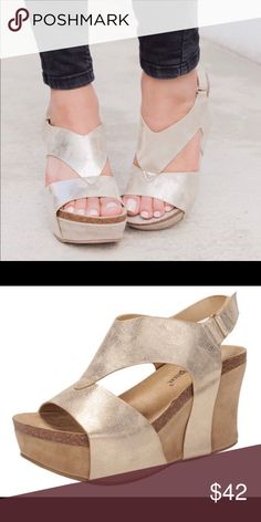 0123d9192a3 gold wedge sandals limited sizes! 6