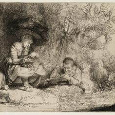 Rembrandt, De fluitspeler (l'Espiègle) ( B 188 ), 1642. Teylers Museum