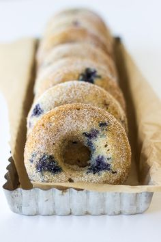 Baked Buttermilk Blueberry Donuts