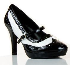 Oxford style heels $40 #vegan