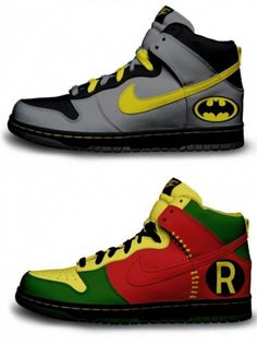 Batman and Robin meet Nike. #kids #accessories