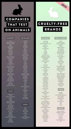 Companies that do animal testing and cruelty to makeup and .-Unternehmen, die Tierversuche und Grausamkeiten gegen Make-up und Hautpflege durchführen … Companies that do animal testing and cruelty to makeup and skin care … out - Beauty Care, Beauty Skin, Health And Beauty, Beauty Hacks, Beauty Tips, Beauty Ideas, Beauty Secrets, Diy Beauty, Pure Cosmetics